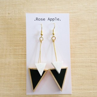 Wooden Earrings No.35