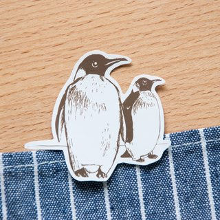 [Animal series # 8 monochrome penguin coloring sticker pack 5