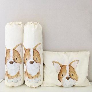Corgi Personalized Baby Bolster and Pillow
