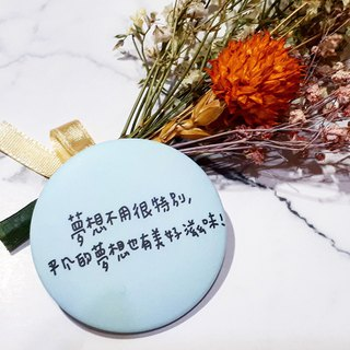 Quotes badge - blue series