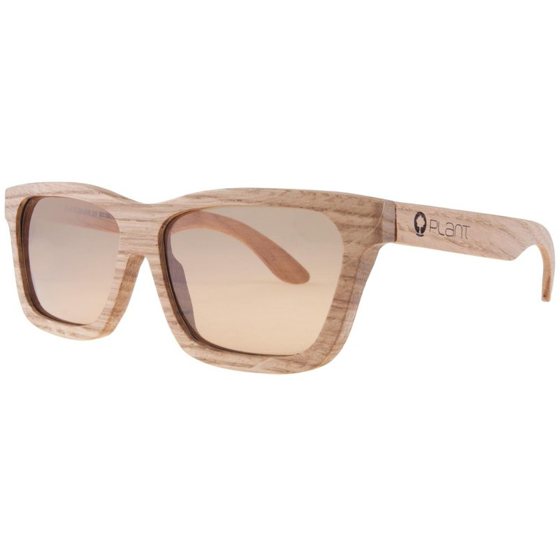 Plantwear European Handmade Wooden Sunglasses - Classic Series - White Oak Solid Wood Frame + Cool Sandals