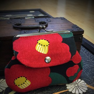 Japanese silk flower pocket bag