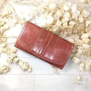 015PK Long wallet / leather stripe color scheme Long wallet / stripe / petite / leather / leather / flap / beautiful wrapping / scalp / packing / leather / leather / lid / beauty