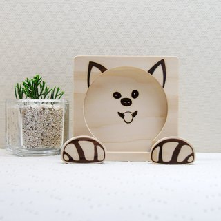 Shiba Inu mobile phone holder coaster dog palm line clip photo folder folder customization