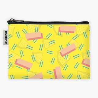 Snupped Zipper - Accessories Pouch - Funky Pattern, Lemons, Yellow