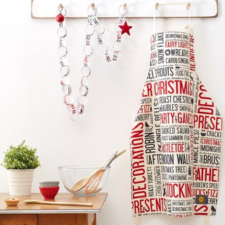 British Egg Cotton Apron Celebration (Red)