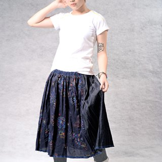 Spring and summer embroidery wear two knee skirts