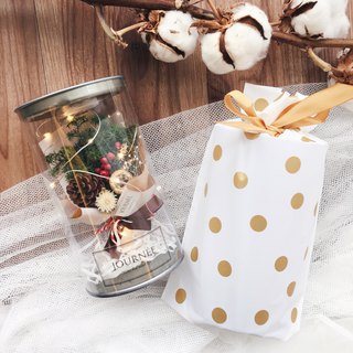 Journee warm winter cotton flower pot / dry bouquet Christmas gift exchange gift