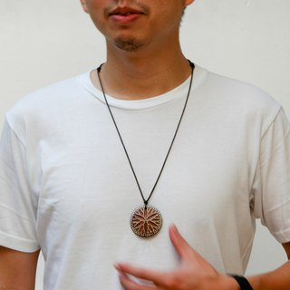 Wooden evolutionary tree necklace Wood Pendant