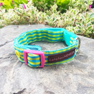 Chain hair child collar - Wenqing lattice small green new blue green yellow 2 cm wide version [Spot]