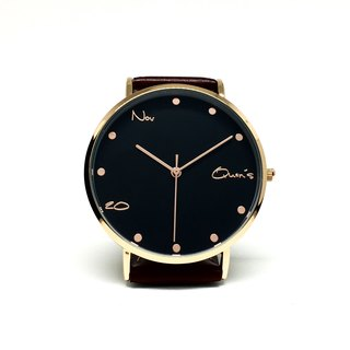 Customized Watches - October Storewide - Rose gold frame with black finish