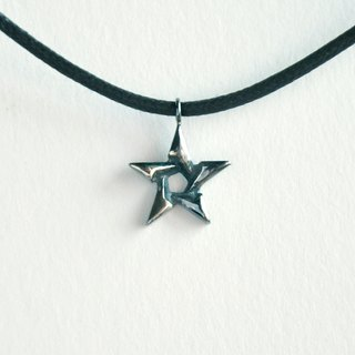 ∥Cheng Jewelry∥ Oriental Star black leather bracelet silver necklace necklace dual