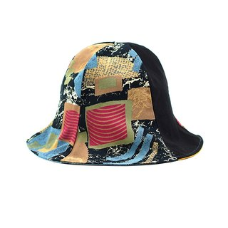 Maverick Village Calf Village Handmade Double-sided Hat Customized Sunshade Hooded Hat Neutral Retro Japanese {Hiroo Sun [H-340] Rare Cubes