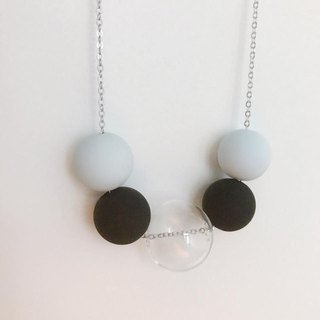 grey black Glass ball Beans Necklace Chrismas Gift Wedding BFF