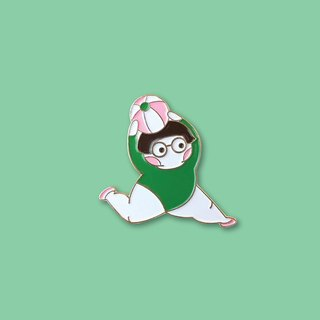 Hao Bao Bao Workout Pin (Green)