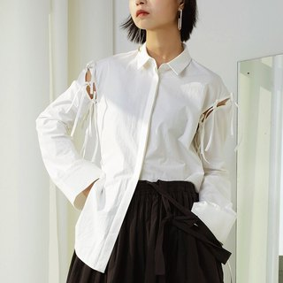 Blouse with Detachable Sleeves