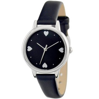 Mother's Day Gift Elegance Watch with Heart index Black Free Shipping
