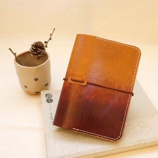 Hand dyed gradient leather passport holder