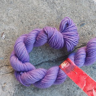 Mini hand dyed line. Eggplant Violet