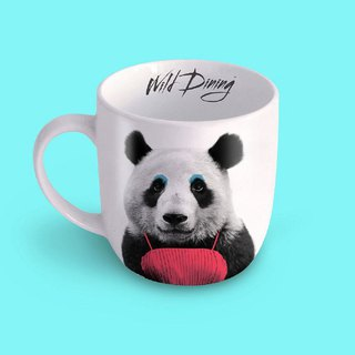 British Mustard Animal Mug - Panda Bear
