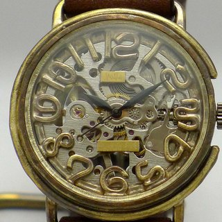 Handmade watch HandCraftWatch hand-rolled BrassJUMBO number index [BHW087 SV / BR]