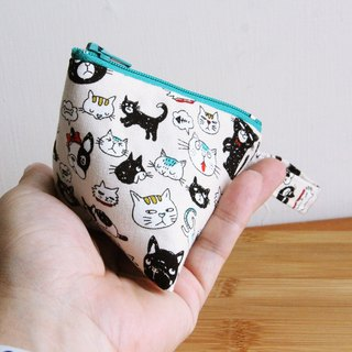 Wen Qingfeng small purse ~ Zizi modeling cats and dogs a family made zipper cotton