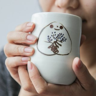 Brut Cake Pottery - Hand-painted handmade cups, only this one.