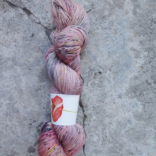 Hand-dyed lines. Powder firefly (BFL). Ultra-washed blue sheep