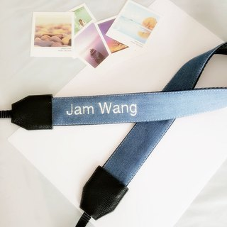 Custom gift can embroider name lettering camera shoulder strap strap leather birthday gift photographer gift