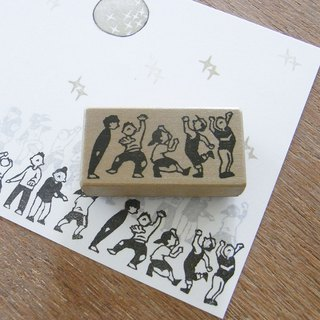 Handmade rubber stamp  Dance team 3
