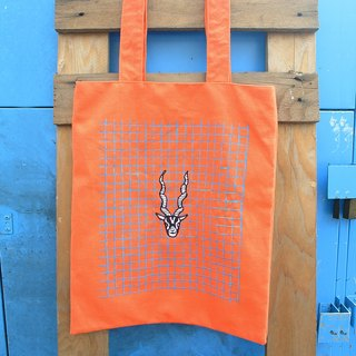 Bright orange sails Bu Tuote bag - embroidery antelope