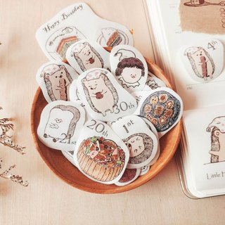Sticker l small toast original daily pay small hedgehog and dessert