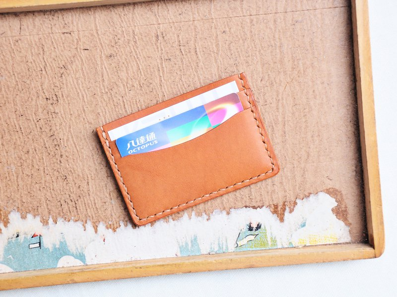 4+1雙面咭套 皮革材料包 免費刻名 名片夾 意大利 植鞣 皮革DIY