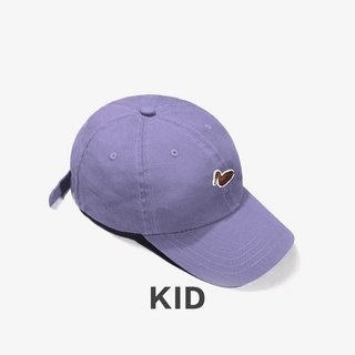 KIDS Duck Embroidered Outdoor Casual Cap:: Light Purple::
