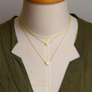 Double-chain hexagonal necklace [hairline] necklace clavicle chain