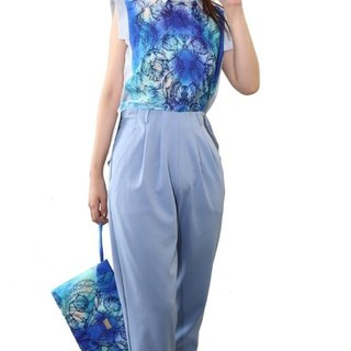 Hong Kong designer brand BLIND by JW elegant high waist trousers (water)