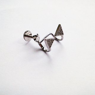 Silver earrings screw clamp