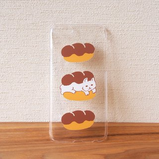 Clear plastic iPhone case - Cat Sandwich -