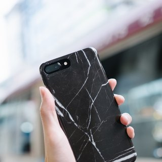 Original Imitated  Black Marble Phone case (iPhone model) with hard shell back case