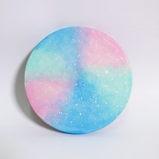 Starry Hand Painted Coaster / Pink