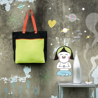 < Chic Tote Bag/ Inhale > #Canvas shopping bag #Proudly made in Taiwan