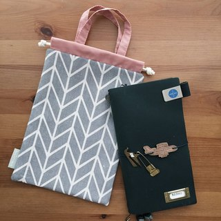 Hairmo Japanese style arrow line account/notepad storage bag (tn/hobo/MD/diary)