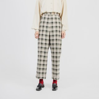 [Egg plant ancient] patio lattice straight old vintage pants