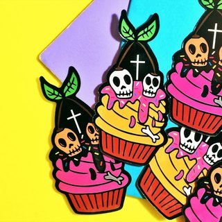Hell cherry cup cake / sticker