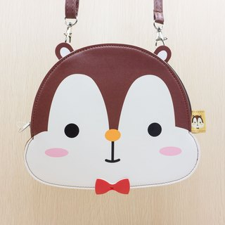 Cute squirrel Squly Head PU Leather Shoulder Bag - G009SQB