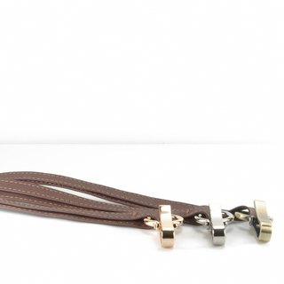 Classic vegetable tanned lanyard leather brown