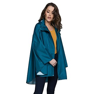 November Rain waterproof poncho - Ocean Blue