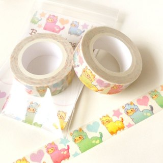 Alpaca Washi Tape. Planner Decoration. Kawaii Washi Tape. Cute Washi Tape.