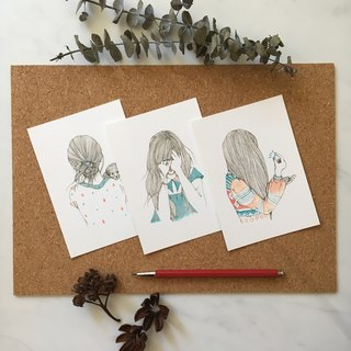 My New Puppy Illustrations Art Note Cards Postcards Set