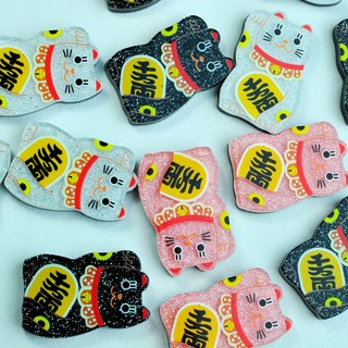 Lucky meow << stationery small material. Magnet >>
